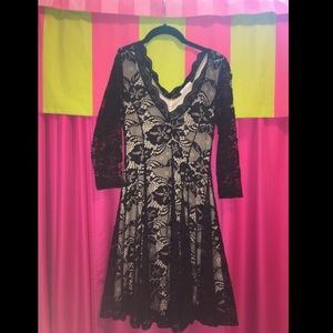Charlotte Russe Black Lace Sleeve Dress